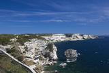 Falaises Cliffs Towards Capo Pertusato, Bonifacio, Corsica, France Photographic Print by Walter Bibikow