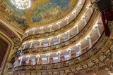 Manaus Opera House Ballroom, Ceiling and Balcony, Amazon, Brazil Photographic Print by Cindy Miller Hopkins