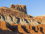 The Castle, Wingate Sandstone Chinle and Moenkopi Formation, Utah, USA Photographic Print by Frank Zurey