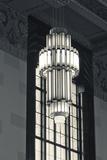 Artistic Lobby Light, the Durham Museum, Omaha, Nebraska, USA Photographic Print by Walter Bibikow