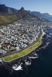 Sea Point Promenade, Lion's Head, Cape Town, South Africa Fotografisk tryk af David Wall