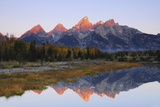 Grand Tetons at Sunrise, Grand Teton National Park, Wyoming, USA Photographic Print by Michel Hersen