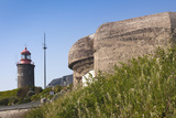 Granville Lighthouse and German Bunker, Granville, Normandy, France Photographic Print by Walter Bibikow
