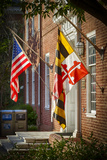 State and National U.S. Flags, Annapolis, Maryland, USA Photographic Print by Christopher Reed
