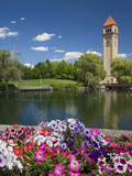 Clock Tower, Spokane River, Riverfront Park, Spokane, Washington, USA Photographic Print by Charles Gurche