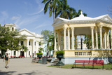 Gazebo in Center of Downtown, Santa Clara, Cuba Photographic Print by Bill Bachmann