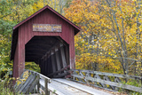 Bean Blossom Covered Bridge in Brown County, Indiana, USA Stampa fotografica di Chuck Haney