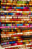 Textile Blankets, Otavalo Handicraft Market, Quito, Ecuador Photographic Print by Cindy Miller Hopkins