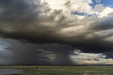 Storm Forming over Mount Kilimanjaro, Amboseli National Park, Kenya Photographic Print by Martin Zwick