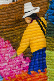 Traditional Wool Rug, Otavalo Handicraft Market, Quito, Ecuador Photographic Print by Cindy Miller Hopkins
