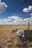 Old Wagon, Prairie Homestead, Cactus Flat, South Dakota, USA Photographic Print by Walter Bibikow