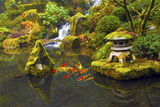 Portland Japanese Garden, Portland, Oregon, USA Papier Photo par Michel Hersen