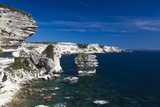 Falaises Cliffs Towards Capo Pertusato, Bonifacio, Corsica, France Photographic Print by Walter Bibikow