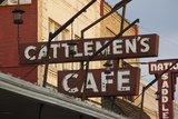 Cattlemen's Cafe Restaurant Sign, Oklahoma City, Oklahoma, USA Photographic Print by Walter Bibikow