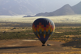 Aerial View of Hot Air Balloon Landing, Namib Desert, Namibia Photographic Print by David Wall