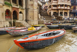 Boats on River Ganges, Varanasi, India Photographic Print by Ali Kabas