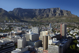 Cape Town Cbd and Table Mountain, Cape Town, South Africa Photographic Print by David Wall