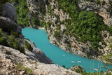Boating in Gorges Du Verdon, Alpes De Haute Provence, France Photographic Print by Brian Jannsen