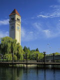 Great Northern Clock Tower, Riverfront Park, Spokane, Washington, USA Photographic Print by Charles Gurche