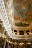 Manaus Opera House Ballroom, Ornate Ceiling Detail, Amazon, Brazil Photographic Print by Cindy Miller Hopkins
