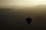 Aerial View of Hot Air Balloon over Namib Desert, by Sesriem, Namibia Photographic Print by David Wall