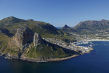 Aerial View of the Sentinel and Hout Bay, Cape Town, South Africa Photographic Print by David Wall