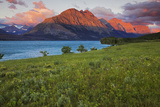 St Mary Lake at Sunrise, Glacier National Park, Montana, USA Photographic Print by Charles Gurche