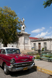 1957 Chevy Car Parked Downtown, Mantanzas, Cuba Photographic Print by Bill Bachmann