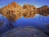 Pond in Joshua Tree National Park, Barker Tank, California, USA Photographic Print by Charles Gurche