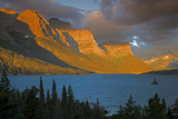 St Mary Lake at Sunrise, Glacier National Park, Montana, USA Photographic Print by Charles Gurche