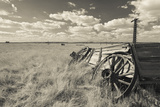 Old Wagon, Prairie Homestead, Cactus Flat, South Dakota, USA Photographic Print by Walter Bibikow
