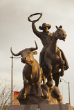 Rodeo Sculpture, Oklahoma City, Oklahoma, USA Photographic Print by Walter Bibikow