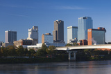 City Skyline from the Arkansas River, Little Rock, Arkansas, USA Fotografie-Druck von Walter Bibikow