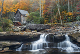 Grist Mill on Glade Creek at Babcock State Park, West Virginia, USA Photographic Print by Chuck Haney