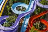 Colorful Water Slides in Buyukcekmece, Aerial, Istanbul, Turkey Photographic Print by Ali Kabas