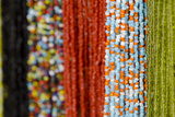 Glass and Silver Bead Necklaces, Otavalo Market, Quito, Ecuador Photographic Print by Cindy Miller Hopkins