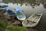 Boats Line the Shore of La Antigua River, Veracruz, Mexico Photographic Print by Brent Bergherm