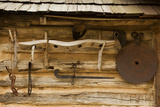 Historical Tools, Adams Corner Rural Village, Oklahoma, USA Photographic Print by Walter Bibikow
