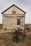 Homesteader's Cabin Exterior, Beatrice, Nebraska, USA Photographic Print by Walter Bibikow