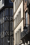 Old Buildings, Rue St-Nicholas, Rouen, Normandy, France Photographic Print by Walter Bibikow