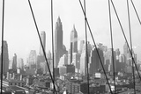 Lower Manhattan Skyline from Brooklyn Bridge, 1947, New York, USA Photographic Print by Peter Bennett