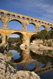 Roman Bridge and Aqueduct, Pont Du Gard, Languedoc-Roussillon, France Photographic Print by Brian Jannsen