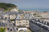 Elevated Town View, St-Valery En Caux, Normandy, France Photographic Print by Walter Bibikow