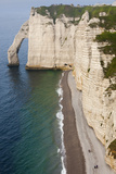 Falaise De Aval Cliffs, Elevated View, Etretat, Normandy, France Photographic Print by Walter Bibikow