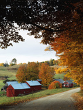 The Jenne Farm in Fall, Reading, Vermont, USA Photographic Print by Walter Bibikow