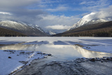 Bowman Lake in Winter, Glacier National Park, Montana, USA Photographic Print by Chuck Haney