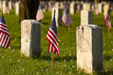Memorial Day, Stones River National Cemetery, Tennessee, USA Photographic Print by Brian Jannsen