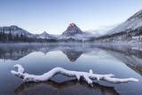 Winter at Pray Lake, Glacier National Park, Montana, USA Photographic Print by Chuck Haney