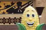 Corn Mascot at the Mitchell Corn Palace, South Dakota, USA Photographic Print by Walter Bibikow