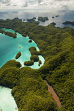 Aerial View of Rock Islands of Palau, Micronesia Photographic Print by Michel Benoy Westmorland